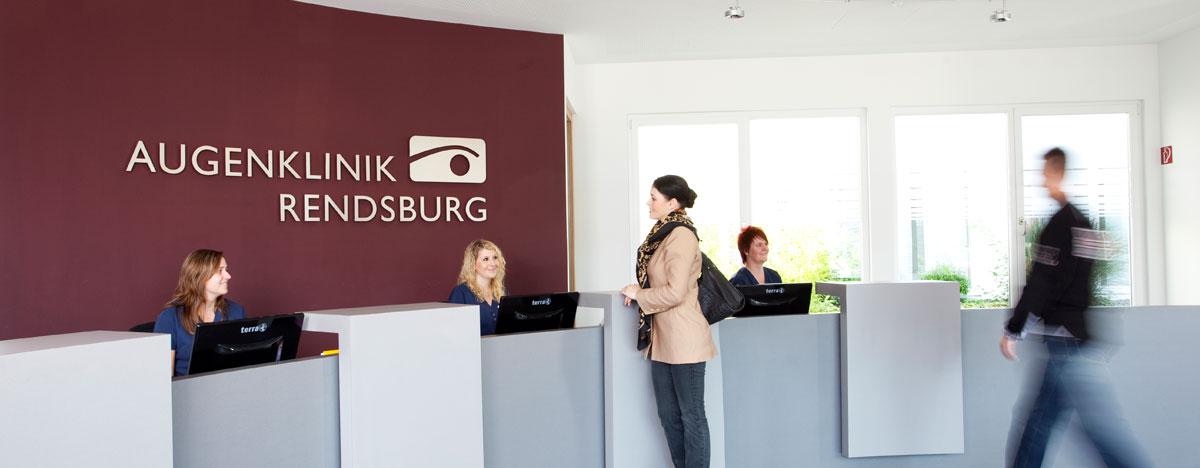 Augenklinik Rendsburg Klinikaufenthalt Empfang Anmeldung