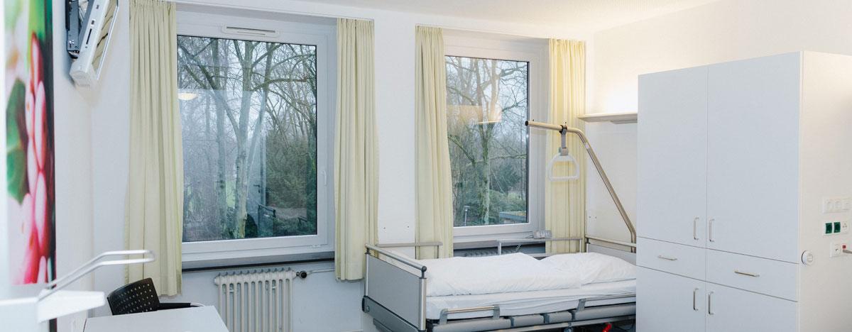 Augenklinik Rendsburg Klinikaufenthalt Bettenstation Zimmer